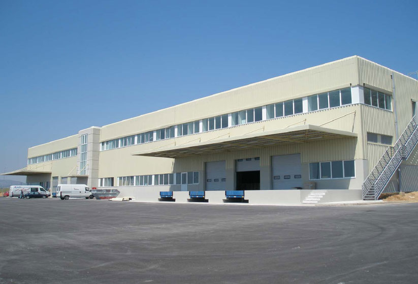 Construction of the distribution center of spare parts for for Mercedes benz parts distribution center